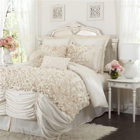 lucia comforter set lush decor lucia 4 piece comforter set queen ivory 179 99