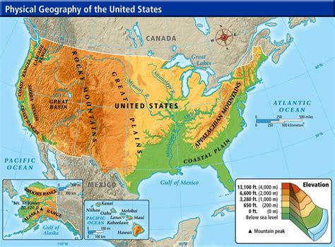 physiographic map of united states week 16 weekly geography questions