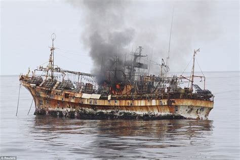 ship japan us sink japan tsunami ghost ship with cannons daily mail