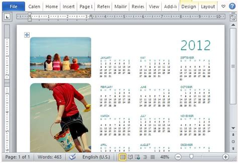 how to make a calendar with family pictures how to easily create a family photo calendar in microsoft word
