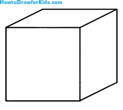 Quibe Drawing how to draw a cube for howtodrawforkids