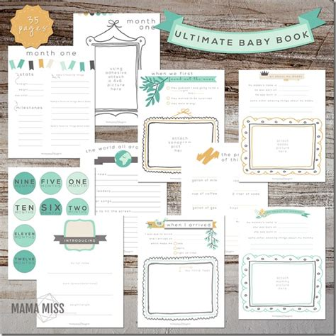 templates for baby books ultimate baby book planners babies and books