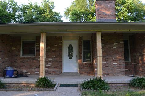 Front Porch Columns diy front porch columns beneath my