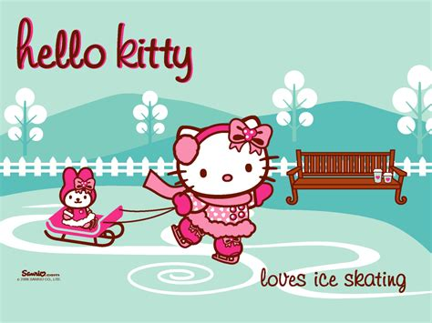 hello kitty holiday wallpaper hello kitty winter wallpapers wallpaper cave