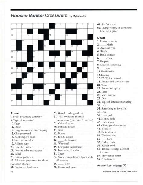 Banking Insurance Letters Crossword His Clients Included Finance Executive International Americas Community Banker Banking New