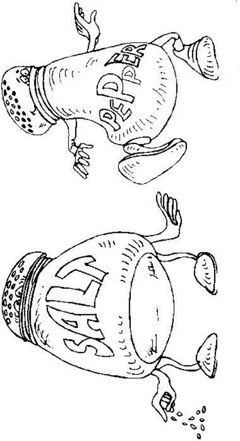 salt of the world coloring page coloring page salt pepper coloring me