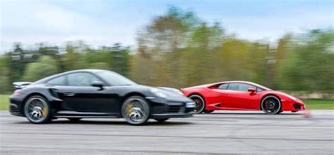 Lamborghini Porsche Drag Race Lamborghini Huracan Lp 580 2 Vs Porsche