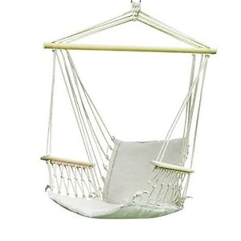 Hanging hammock chair cotton fabric porch patio tree swing outdoor indoor bed ebay
