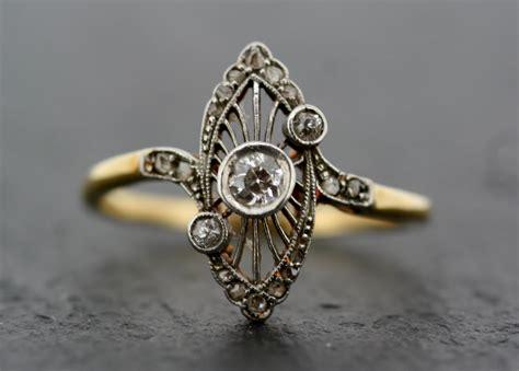 deco vintage ring antique deco ring vintage deco 18ct gold