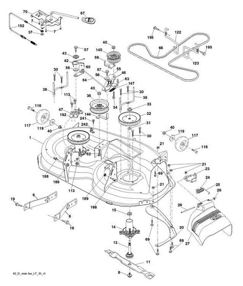 mcculloch parts diagram mcculloch m22042h 96041018000 ride on mower mower deck