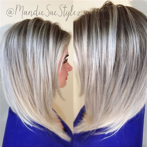 silver blonde root shadow hair ideas pinterest 588 best hairstyles images on pinterest blondes hair