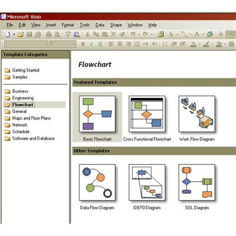 visio software templates creating process maps in visio basic flowcharts and cross