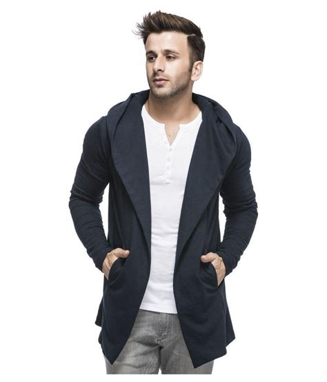 men s tinted men s cotton blend hooded cardigan buy tinted men