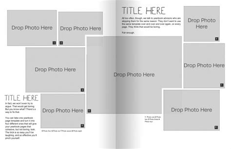 yearbook templates for word the only yearbook page template you need