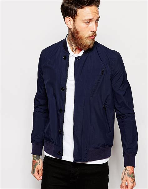 Bjl Jaket Atau Sweater Bomber Polos paul smith bomber jacket in blue for lyst