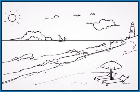 imagenes de paisajes sencillos para dibujar dibujos para colorear paisajes bonitos archivos dibujos