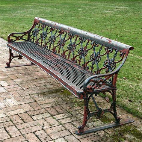 cast aluminium garden bench oversized cast aluminum garden bench