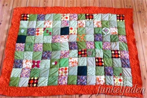 einfache patchworkdecke naehen handmade kultur