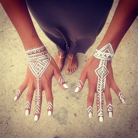 tattoo henna white white henna ink pinterest
