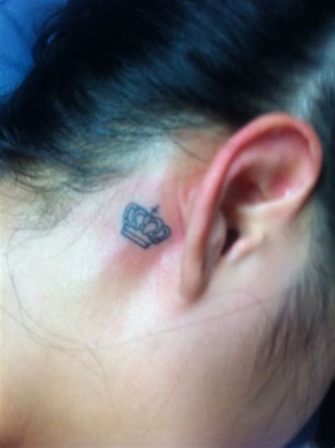 julie johnston tattoo behind ear crown tattoo behind the ear tattoo you pinterest