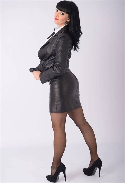17 best images about leather skirt suits on