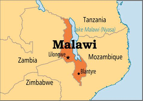 malawi map malawi operation world