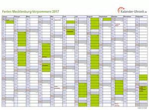 Kalender 2018 Mit Feiertagen Mv Ferien Meck Pomm 2017 Ferienkalender Zum Ausdrucken