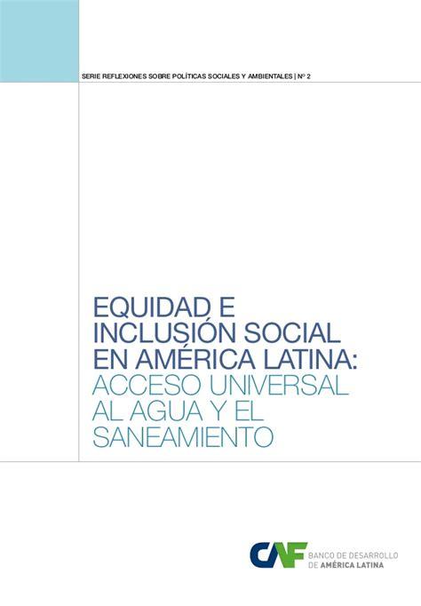 caf si鑒e social caf informe agua y saneamiento 2013