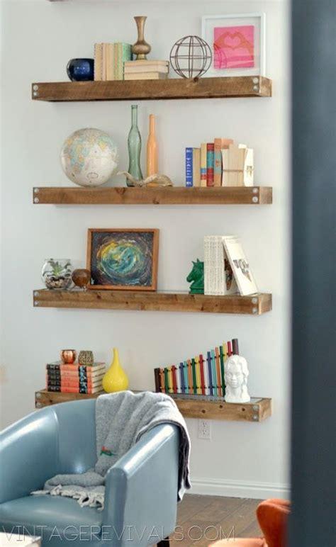 diy industrial modern floating shelves for the home