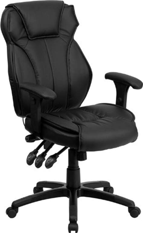 Office Chairs Hours The Flash Furniture High Back Leather Chair Has Many