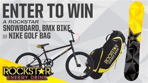 Bmx Bike Giveaway - rockstar and green valley snowboard bmx bike golf bag sweepstakes rockstar energy drink