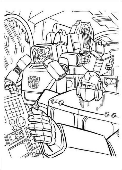 transformers 004 coloring page picture to pin on pinterest