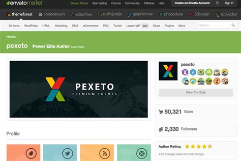 Pexeto Themes Story | share your own story with a creative multi purpose theme