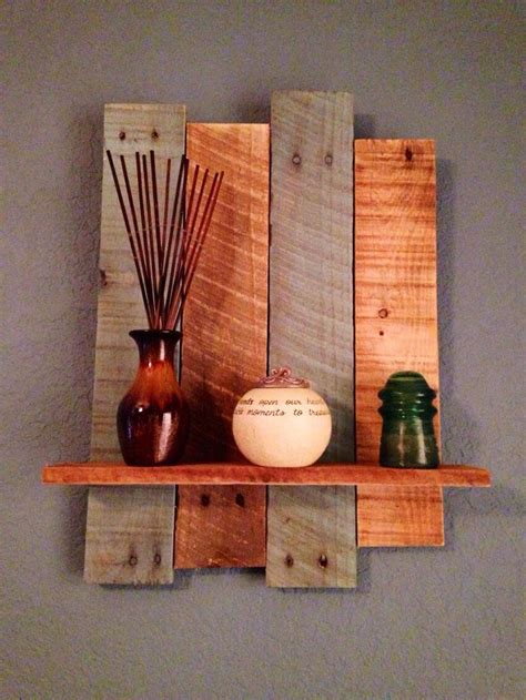 pin  amy evans  pallet project pallet wall shelves