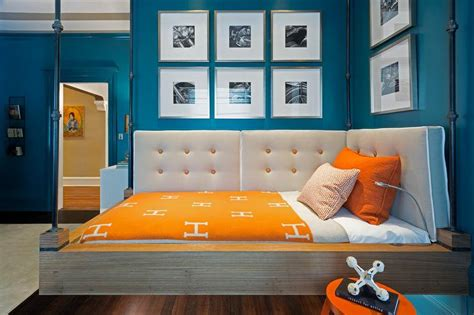 And Blue Childrens Bedroom by Blue And Orange Bedroom With Hermes Avalon Blanket Boy S Room