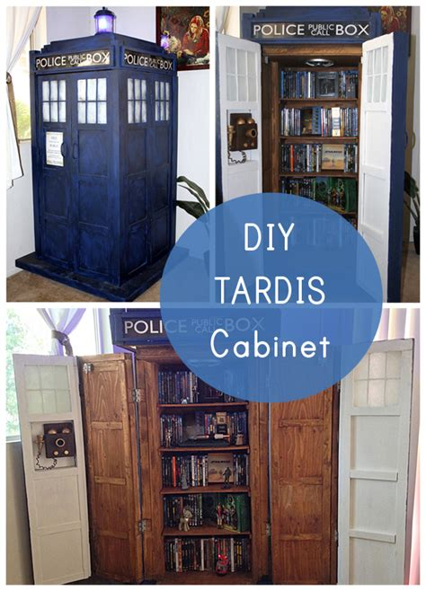 nerd home decor geek decor diy tardis bookshelf cabinet our nerd home
