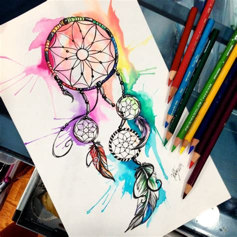 dreamcatcher watercolor tattoo dreamcatcher by lucky978 on deviantart