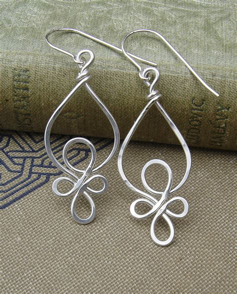 wire for jewelry celtic loops sterling silver wire earrings celtic jewelry