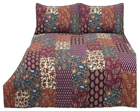 California King Quilt Bedding by Parton 3 Cotton Patchwork Quilt Set Cal King