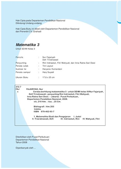 Teril Berhitung Matematika Untuk Kelas Iii 3 Sd kelas iii sd matematika nur fajariyah