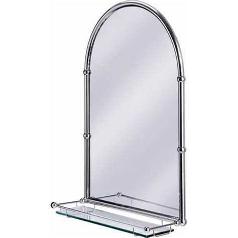 large bathroom mirror with shelf burlington arched mirror with shelf in chrome frame a10
