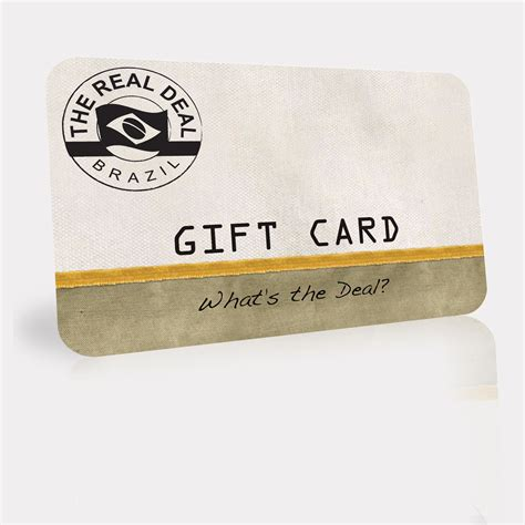 Is Free Gift Cards Real - real deal brazil gift card the real deal made in brazil sku gift card rdb gift