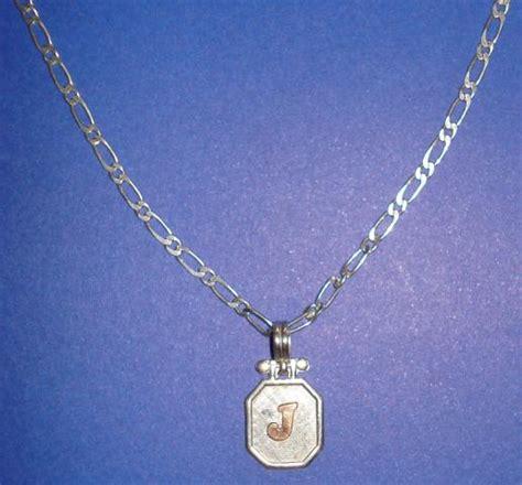 cadenas de plata para hombre peru cadena y dije con inicial de nombre de plata para hombre