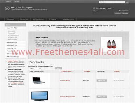 drupal themes online store free ubercart shopping drupal theme freethemes4all