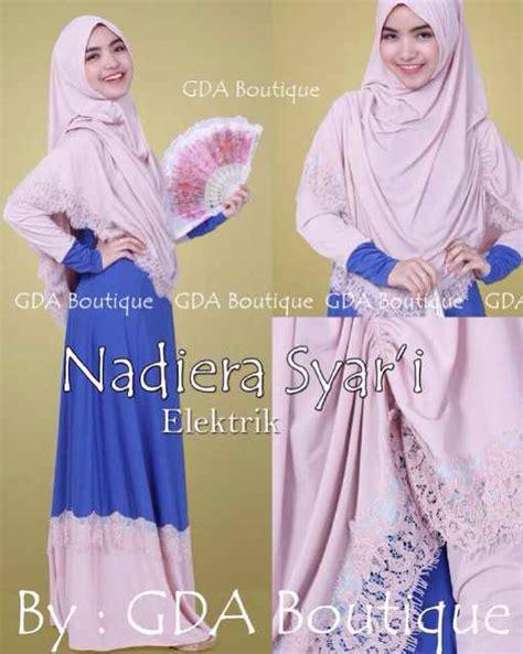 Busana Muslim Biru nadiera biru elektrik baju muslim gamis modern