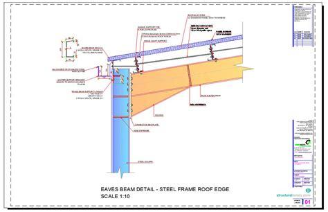 portal rail designs steel hangar portal frame roof eaves beam detail