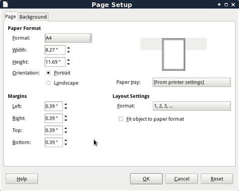 Libreoffice Landscape Layout | changing the page layout and canvas size in libreoffice