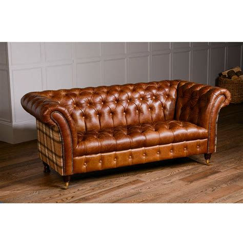 Tweed Chesterfield Sofa Harris Tweed Bernsay Tweed Chesterfield Sofa