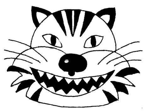 tiger face coloring page az coloring pages