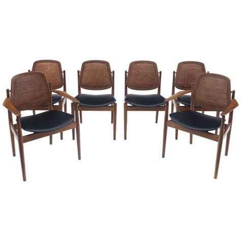 Arne Vodder Dining Chairs Modern Arne Vodder Set Of Six Dining Chairs With Back At 1stdibs